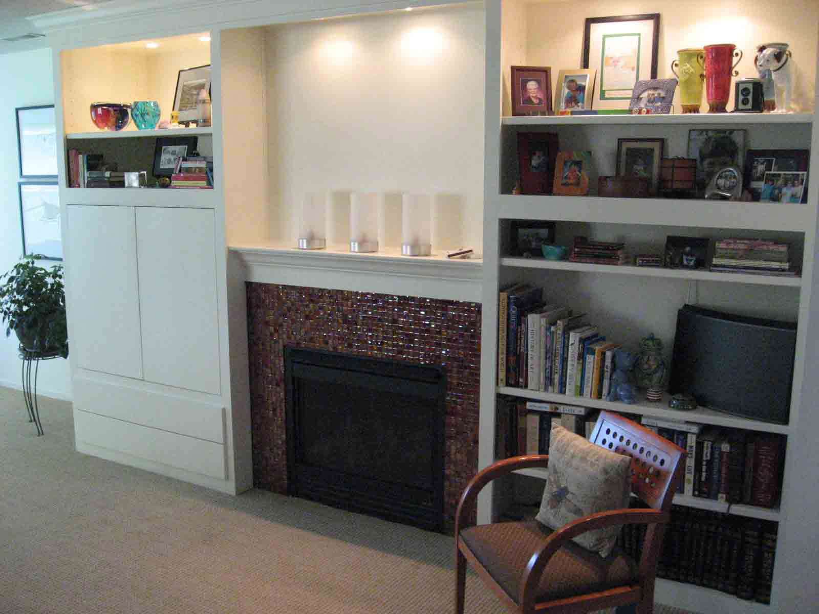 built in tv cabinets around fireplace viewing gallery